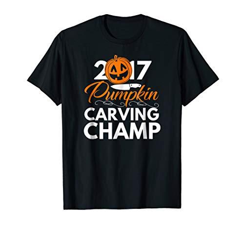 2017 Pumpkin Carving Champ T Shirt - Halloween Shirts ()