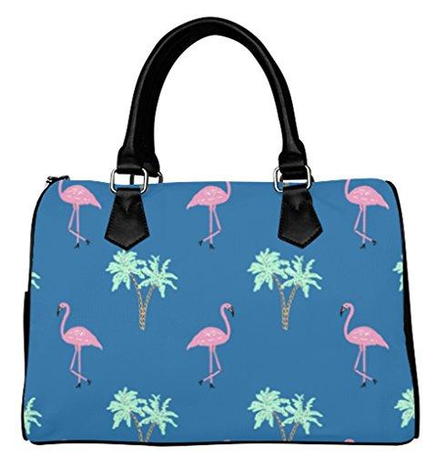Fashionable Female Women Barrel Type Handbags Halloween Flamingo Pattern