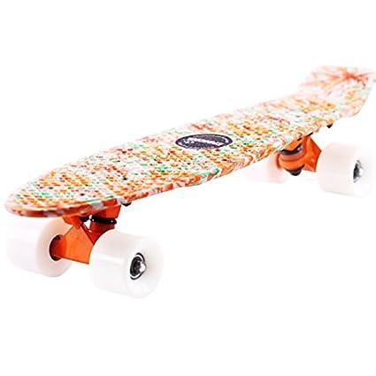 Bluelover Ec-Flgp04 Orange Peony Skateboard Patín ...