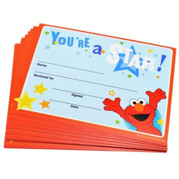 Sesame Street Youre Recognition Certificates