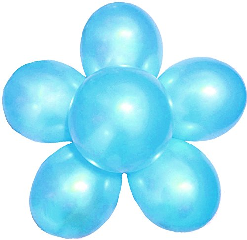 100 light blue balloons - 4