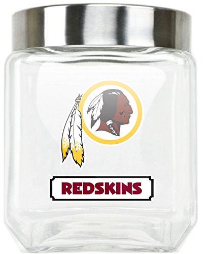 - NFL Washington Redskins Glass Canister, Large