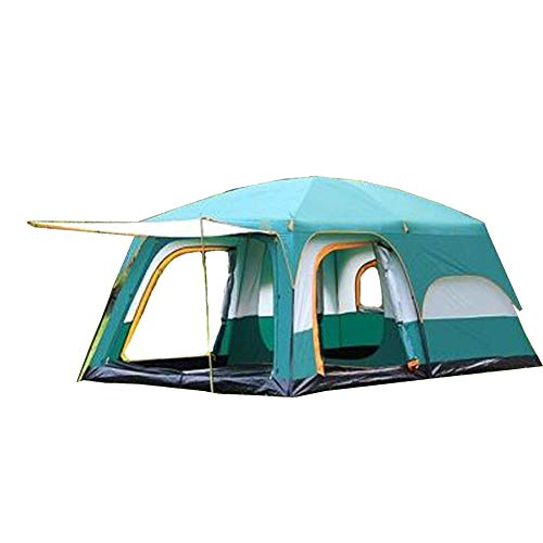 GYY Two Rooms, one Hall, Tent, Outdoor Camping, 6 People, 8 People, 10 People, 12 People, Two Rooms, one Hall, Multi-Person Rainproof - Rod Vertical 4500