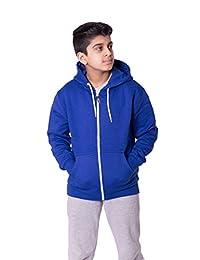 Noroze Kids Boys Girls Plain Fleece Hoodie Full Length Sleeve Sweatshirt Top
