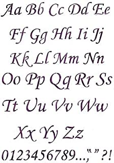 Amazon com: Old English Script Lettering Wall Stencil SKU