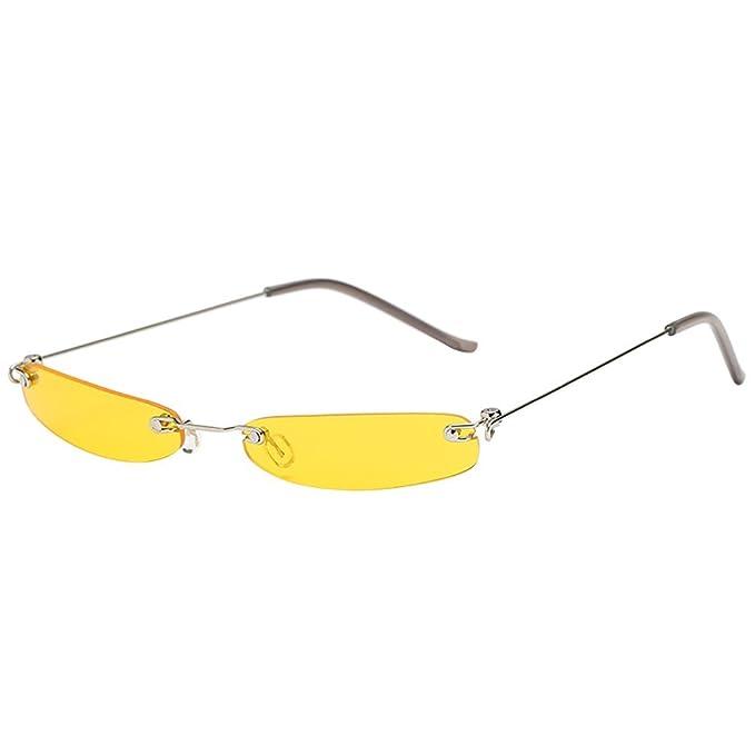 JJLIKER Small Metal Frame Sunglasses for Men and Women ...