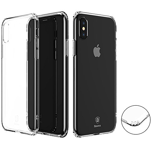 iPhone Case, Baseus Airbag Design Transparent Premium TPU Clear Case Shock-absorption Cover for Apple iPhone Case (2017 Release) (Transparent)