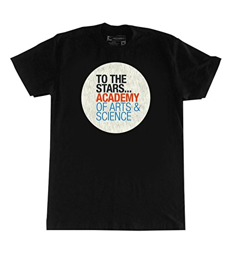 To The Stars Academy Of Arts   Science Text Logo T Shirt  Large  Black