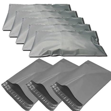 Paquete de 5 bolsas grandes de envío grises de 43 x 61 cm (5 ...
