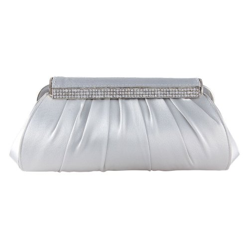 Clutch Evening Wedding Regina Women Fellini Bag 087 Bags N Silver Bridal Carlo Handbag q4a86t