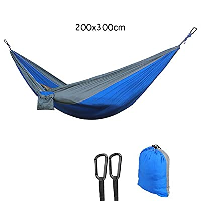 Multifunctional Double Lightweight Camping& Garden Hammocks Outdoor and indoor Use Size 300x200cm