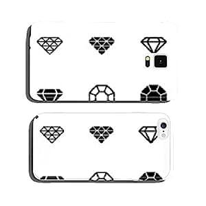 Vector black diamond icon set cell phone cover case Samsung S5