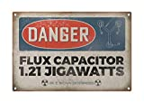 "Dark Branches Personalized Danger Flux Capacitor Metal Sign, Retro Style Metal Sign Tin 8"" X 12"" inch."