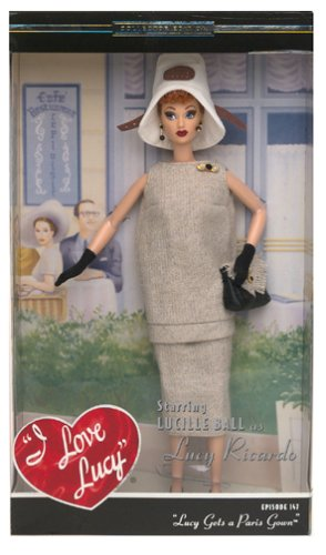 - Mattel Barbie 2003 Timeless Treasures Collectible Doll - I Love Lucy - Lucy Gets a Paris Gown