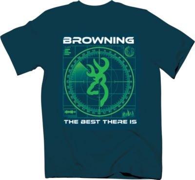 (Browning Youth Radar Hunting And Shooting Kids T-Shirt (Blue, medium))