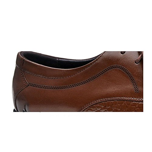 Affaires D'extérieur Printemps Été NIUMJ Chaussures Dentelle Britannique Brown Retro Hommes dX8naqRw