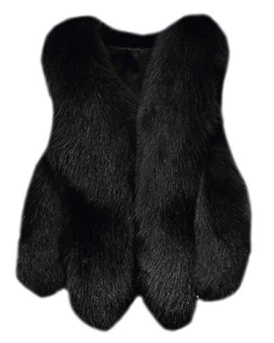 Giacche Costume Termico Outerwear Ecopelliccia Calda Manica Invernali Autunno Lunga Grazioso Di Schwarz Donna Moda Eleganti Pelliccia Cappotto Giacca Tasche Con xXnqwwT0O