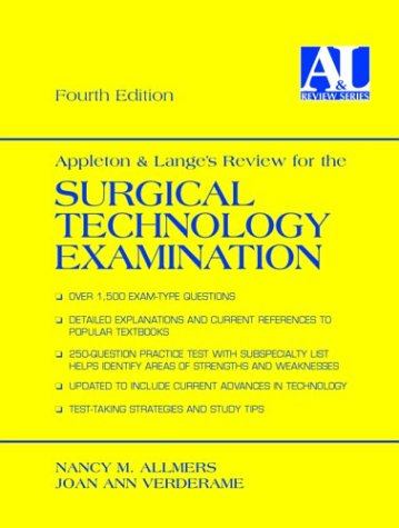 Appleton and Lange's Review for the Surgical Technology Examination by Brand: Appleton Lange