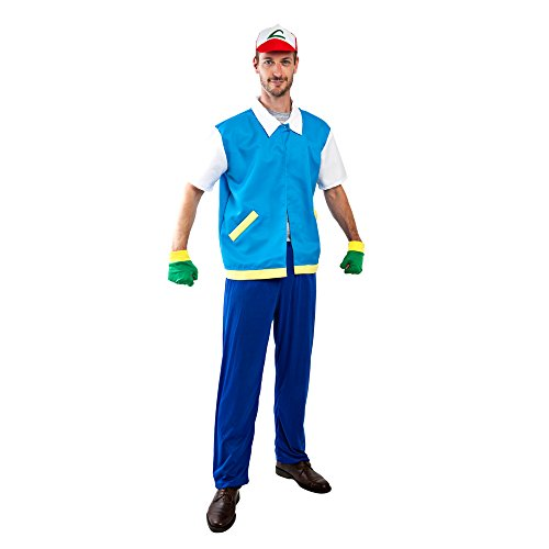 Adult Pokemon Ash Costume, Size Standard ()