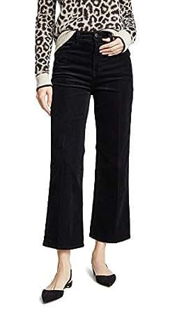 J Brand Women's Joan High Rise Crop Pants, Black, 26