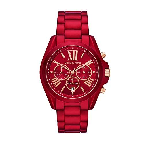 Michael Kors Women's Bradshaw Quartz Watch with Stainless Steel Strap, Red, 20 (Model: MK6724) (Red Michael Kors Watch Men)
