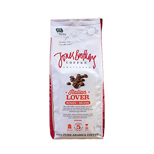 Jones Brothers Arabica Coffee Beans - 100% Arabica Medium Roast Premium Whole Coffee Beans (17.6 oz) - Strong, Yet Tasty, Full of Flavor Coffee - ITALIAN LOVER