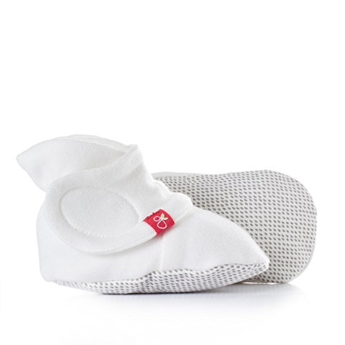 goumiboots, Soft Stay On Booties Keeps Feet Warm and Adjusts to Fit as Baby Grows (Drops/Gray, 0-3 Months) (Cotton Booties)