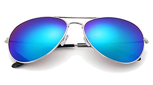 gafas VERS Sol Gafas Gafas 12 piegelt De Gafas Cobalto Aviador Pilot nbsp;colores porno Azul 0AzqYw55