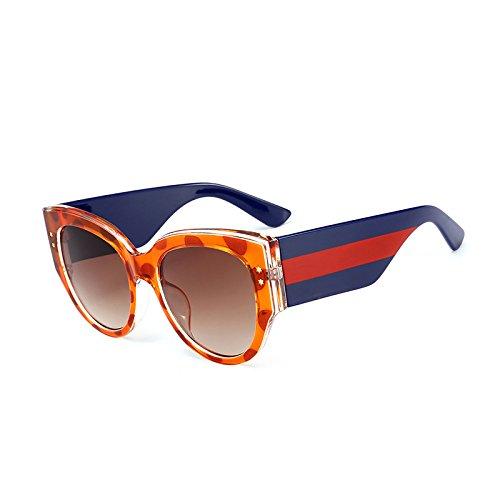 Gradienten Objektiv C3 Schwarz Oculos Frauen Kristall Stripes Marke Uv400 Rahmen Designer KLXEB Oval C1 Sonnenbrille Rot Brillen SqPcf7Sawx
