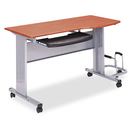 Tiffany & Co. Mayline 8100TDMEC 57w x 23-1/2d x 29h Medium Cherry Eastwinds Mobile Work Table, Medium Cherry