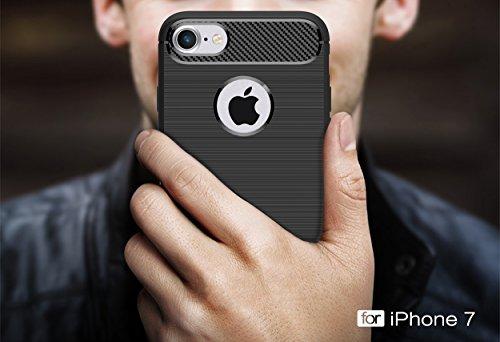 Custodia per iPhone8 ,Custodia per iPhone7 ,ZXLZKQ blu scuro Lusso Cover Morbido TPU Silicone Case Custodia Shockproof Protezione Bumper Back per iPhone8/ iPhone7