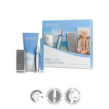 Seacret Nail Care Kit - Body Lotion Ocean,Cuticle Oil,Nail File,Buffing Block