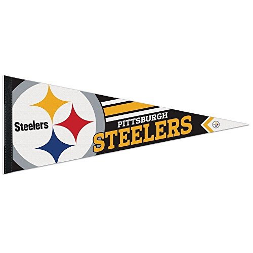 Wincraft NFL 14527115 Pittsburgh Steelers Premium Pennant, 12