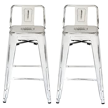 Image of Furniture ACEssentials Low Back Industrial Counter Stool 2 Pack