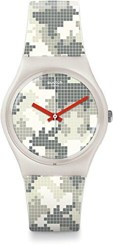 SWATCH Unisex Pixelise Me Quartz 34 mm Watch GW180