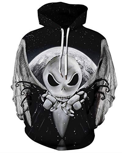 Galaxy Sweatshirts Men/Women 3D Hoodies with Hat Print Grey Aliens Hooded Hoodies Thin Tracksuits Tops