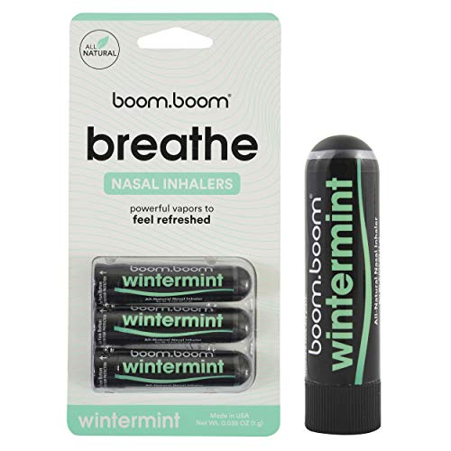 Aromatherapy Nasal Stick (3 Pack) by BoomBoom | Enhances Breathing + Boosts Focus | Breathe Vapor Stick Provides Fresh…
