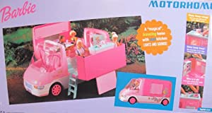 Barbie motorhome vehicle magical traveling motor home van w lights sounds 2000 for Barbie camper van with swimming pool