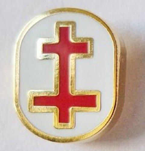 Oval Badge (Knights Templar Past Preceptor Tiny Oval Freemasonry Masonic Enamel and Metal Pin Badge)