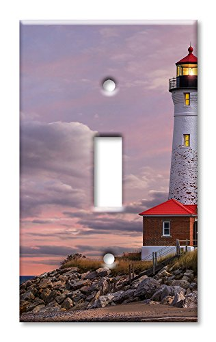 Art Plates Brand Single Toggle Switch / Wall Plate - Lighthouse Of MI