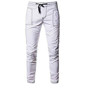Pantalones Hombre Trabajo YiYLinneo Moda Hombre Deporte ...