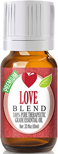 Love Blend 100% Pure, Best Therapeutic Grade Essential Oil - 10ml - Cananga, Clary Sage, Rose Geranium, Lavender, Patchouli Sweet Orange and Ylang Ylang
