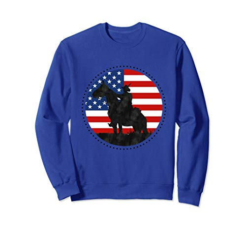 Yankee Doodle Patriotic popular American Song July 4th horse Sweatshirt ()