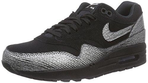 Nike Womens Air Max 1 Prm Scarpa Da Corsa Nero / Nero // Ematite Mtlc