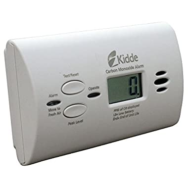 Kidde 21008873-2 KN-COPP-B-LPM Battery-Operated Carbon Monoxide Alarm with Digital Display, 2 Pack