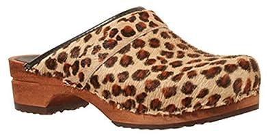 513053dbab5bc9 Sanita  Leopard  Print Wooden Clogs (Art  1706199) - 40