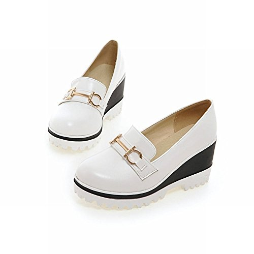 Show Shine Womens Fashion Platform Wedge Heel Shoes White BDLxHxYyG
