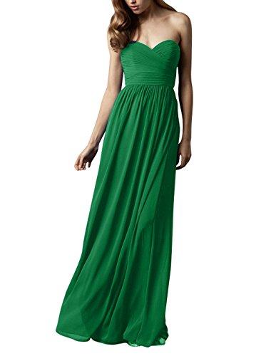 Abschlussballkleider Brau Lang Elegant Brautjungfernkleider Herzausschnitt Chiffon mia La Grün Partykleider Abendkleider 85qSzE