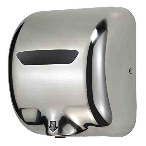 high speed 1800w fast 90ms dry hot stainless steel chrome automatic hand dryer for commercial bathroom
