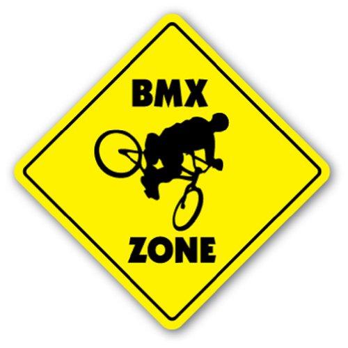 BMX ZONE Sign signs bike frame helmet cranks sticker